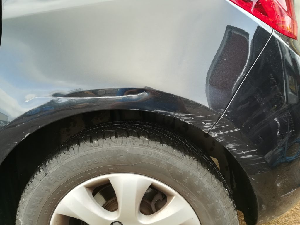 This Wing Had A Nasty Scratch And Dent Luckily Not Touching The Door The Back Corner Of The Bumper Also Needed Attention The Problem When Wings Are